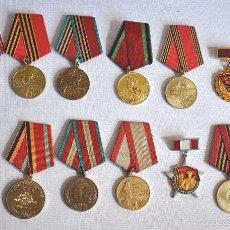 Militaria: LOTE 1 DE 14 MEDALLAS SOVIETICOS .URSS. Lote 58667507