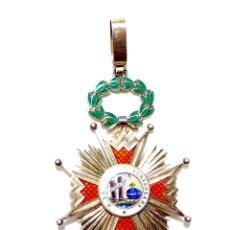 Militaria: ENCOMIENDA ISABEL LA CATOLICA - ISABEL II 5,5 CM DE DIÁMETRO. Lote 57276678