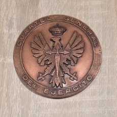 Militaria: ANTIGUA MEDALLA CONMEMORATIVA CUARTEL GENERAL DEL EJERCITO DE BRONCE - MASPE-EN PERFECTO ESTADO. Lote 57315365