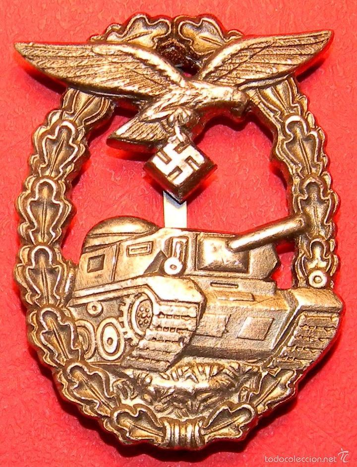 REPLICA MUSEUM - LUFTWAFFE EMBLEMA PANZERKAMPFABZEICHEN - CATEGORIA PLATA (Militar - Reproducciones y Réplicas de Medallas )