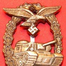 Militaria: REPLICA MUSEUM - LUFTWAFFE EMBLEMA PANZERKAMPFABZEICHEN - CATEGORIA PLATA. Lote 54910565