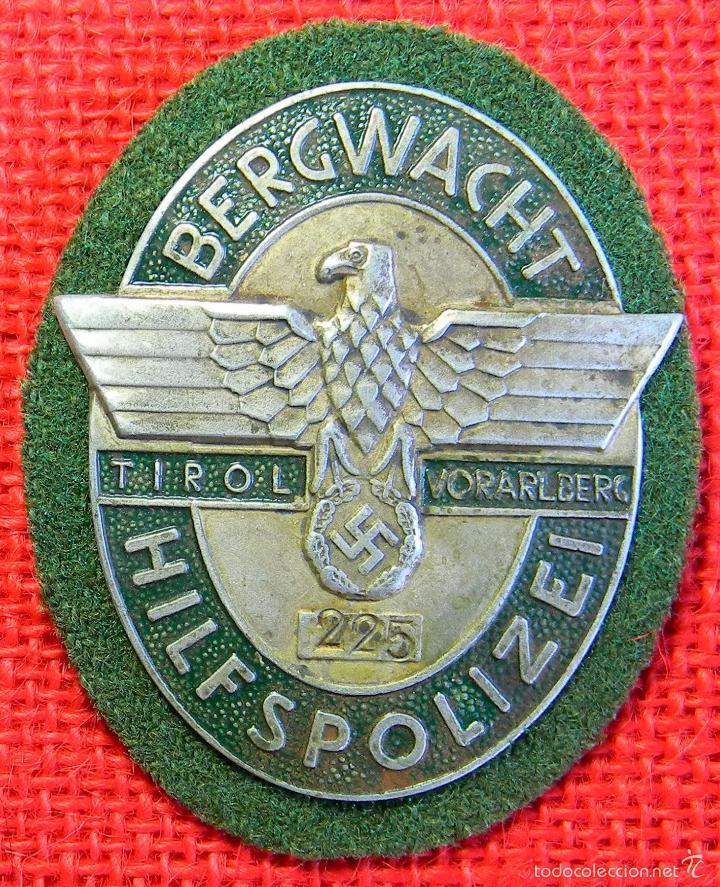 REPLICA MUSEUM - PLACA DE IDENTIFICACIÓN BERGWACHT HILFSPOLIZEI TIROL VORARLBER - ALEMANIA III REICH (Militar - Reproducciones y Réplicas de Medallas )