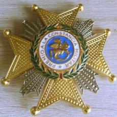 Militaria: PRECIOSA PLACA DE LA REAL Y MILITAR ORDEN DE SAN HERMENEGILDO, ESCELENTE ESMALTE. Lote 102037264