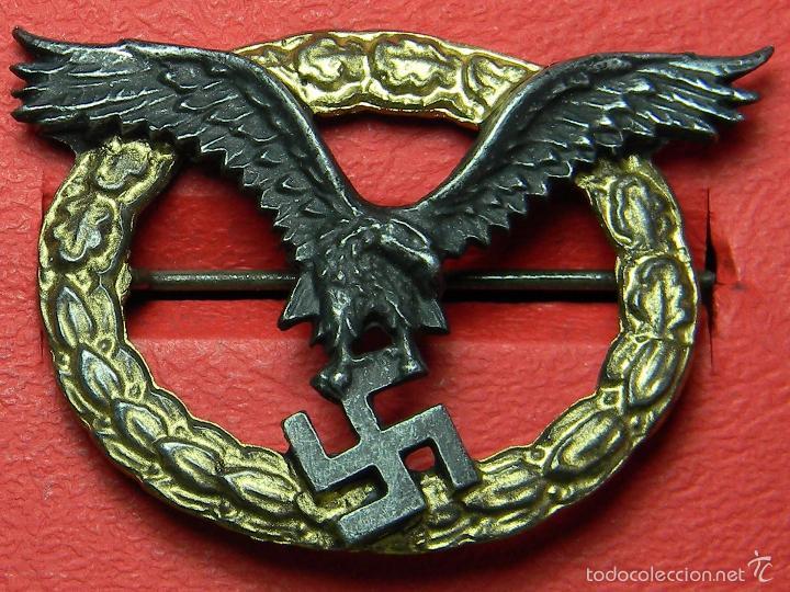 LUFTWAFFE PILOTO – PILOTO/OBSERVADOR - REPRODUCCIÓN DE ALTA CALIDAD. METAL BICOLOR (Militar - Reproducciones y Réplicas de Medallas )
