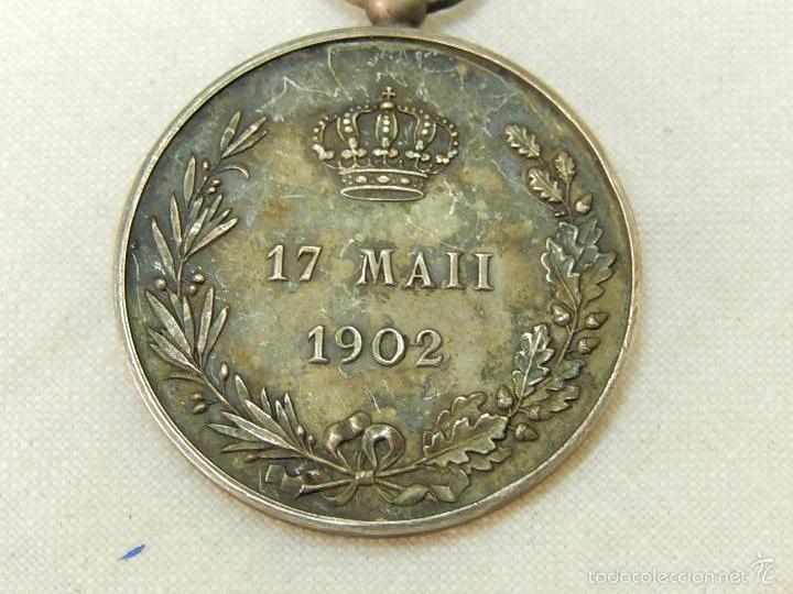 Militaria: Medalla Alfonso XIII. 1902. - Foto 4 - 57420235