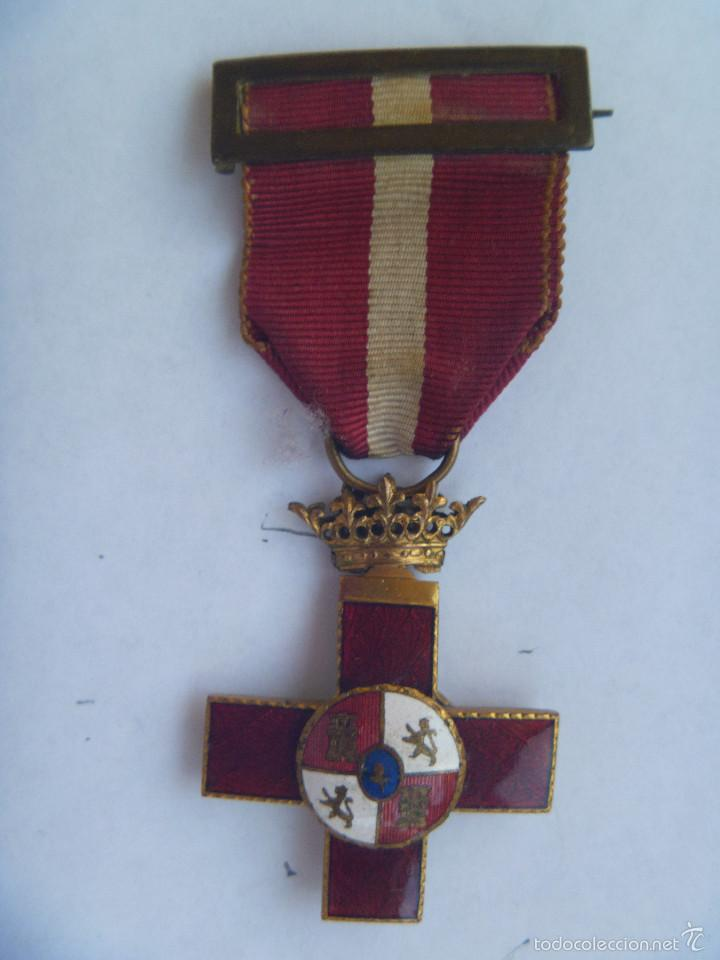 GUERRA CIVIL : MEDALLA CRUZ DEL MERITO MILITAR , EPOCA DE FRANCO (Militar - Medallas Españolas Originales )