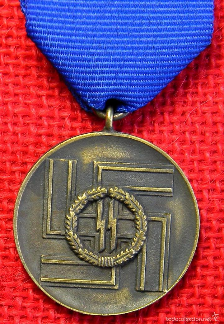 REPLICA MUSEUM - MEDALLA POR LEAL SERVICIO DE 8 AÑOS A LAS WAFFEN SS (Militar - Reproducciones y Réplicas de Medallas )