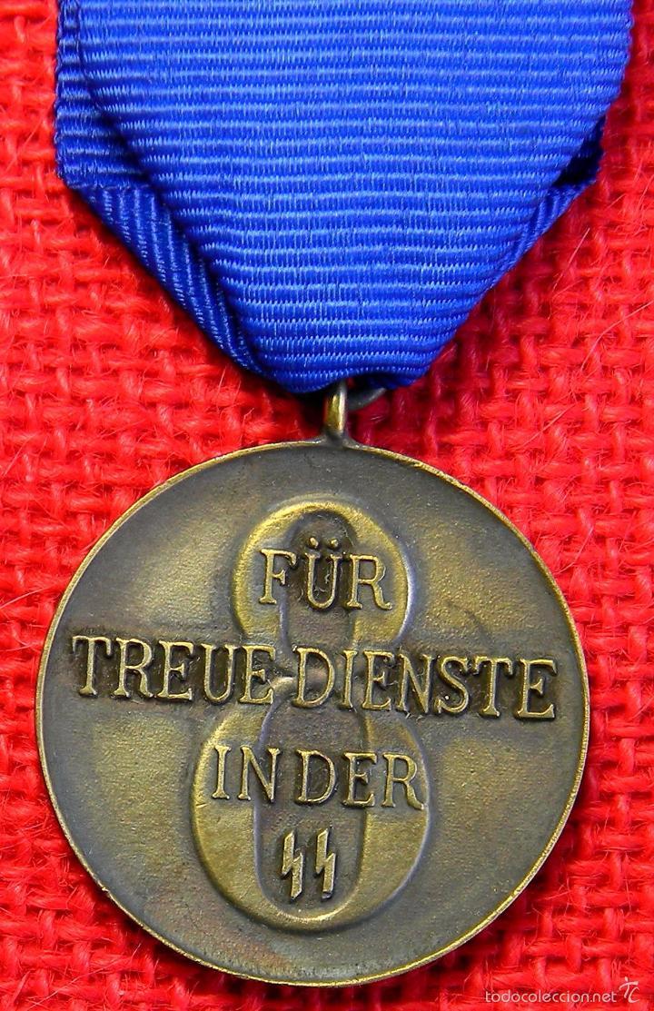 Militaria: Replica museum - Medalla por leal servicio de 8 años a las Waffen SS - Foto 3 - 59548405