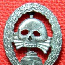 Militaria: LEGION CONDOR - INSIGNIA DE TANQUISTA - GUERRA CIVIL ESPAÑOLA - REPLICA DE ALTA CALIDAD - CAT. PLATA. Lote 121181278