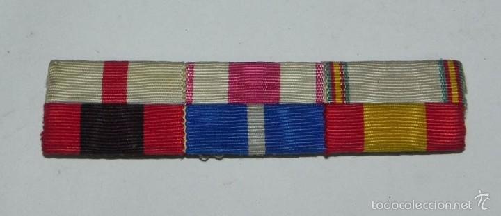 PASADOR DE 6 CINTAS, TAL Y COMO SE VE EN LAS FOTOGRAFIAS PUESTAS. (Militar - Cintas de Medallas y Pasadores)