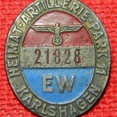 Militaria: UNIDAD ARTILLERÍA NÚM. 11 DE LA WERCHMACHT - KARLSHAGEN – COHETE EXPERIMENTAL V2. 50 X 40 MM. Lote 86687464