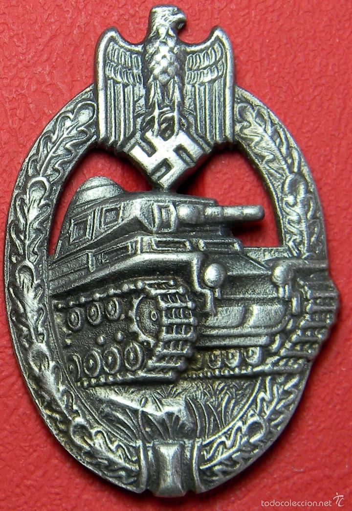 HEER PLACA DE ASALTO PANZER. PANZERKAMPFABZEICHEN. TANK BADGE. REPRODUCCIÓN DE ALTA CALIDAD. (Militar - Reproducciones y Réplicas de Medallas )