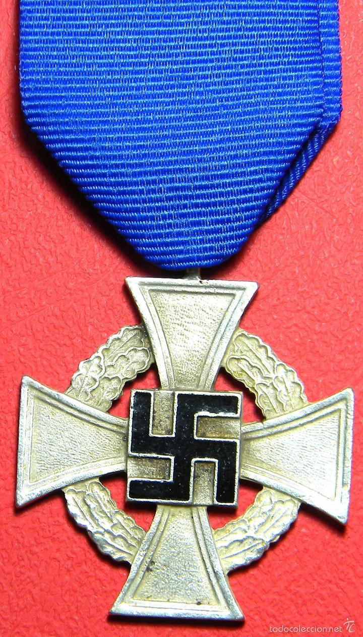 REPLICA MUSEUM - TREUDIENST EHRENZEICHEN - MEDALLA 40 AÑOS DE SERVICIO - III REICH (Militar - Reproducciones y Réplicas de Medallas )
