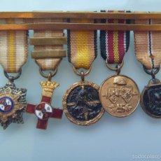 Militaria: DIVISION AZUL : PASADOR CON 5 MINIATURAS MEDALLAS DE DIVISIONARIO: CRUZ DE GUERRA, ANTIBOLCHEVIQUE.. Lote 57681391