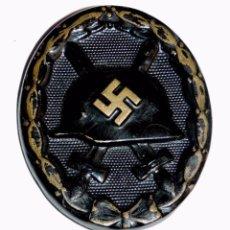Militaria: INSIGNIA DIVISION AZUL : EMBLEMA DE HERIDO , NEGRO, ORIGINAL DE UN DIVISIONARIO , TRAIDA DE RUSIA, E. Lote 57788598