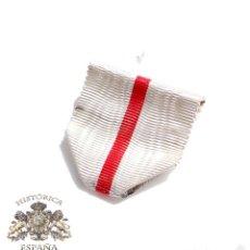 Militaria: CINTA ANTIGUA MÉRITO BLANCO. Lote 58118346
