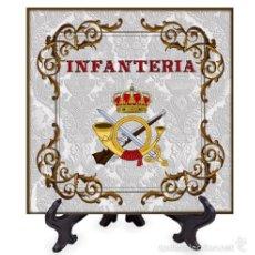 Militaria: AZULEJO 15X15 CON ESCUDO DE LA INFANTERIA.. Lote 99463180