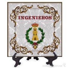Militaria: AZULEJO 15X15 CON EL EMBLEMA DE INGENIEROS. Lote 58398921