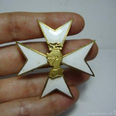 Militaria: CRUZ DE LA ORDEN DE SAN JUAN BAUTISTA DE AMÉRICA. PLATA DORADA Y ESMALTE. 1956.. Lote 58391860
