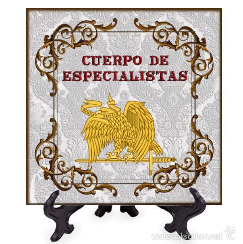 AZULEJO 15X15 EMBLEMA DEL CUERPO DE ESPECIALISTAS (Militar - Reproducciones y Réplicas de Medallas )