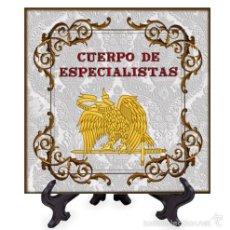Militaria: AZULEJO 15X15 EMBLEMA DEL CUERPO DE ESPECIALISTAS. Lote 132469986