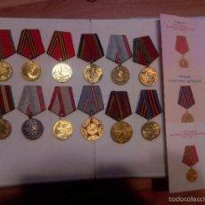 Militaria: URSS.LOTE 1. 13 MEDALLAS Y TRES DOCUMENTOS CONCESION. Lote 58401020
