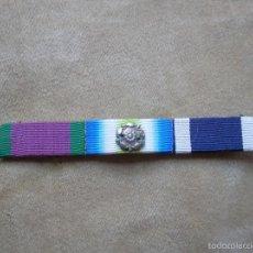 Militaria: PASADOR DE VETERANO DE LA ROYAL NAVY. GUERRA DE LAS MALVINAS. FALKLANDS. ROSETA. ZONA DE COMBATE.. Lote 58453750