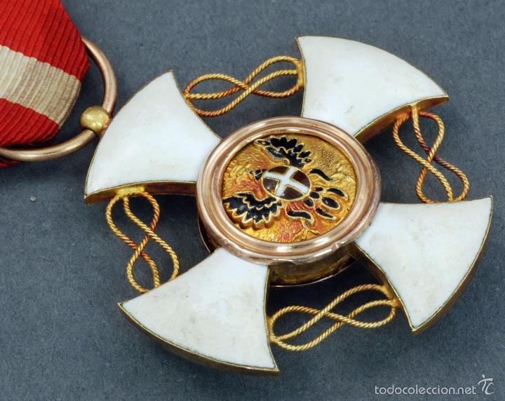 Militaria: Cruz Orden Caballero Corona Italia oro y esmalte con cinta - Foto 4 - 59159775