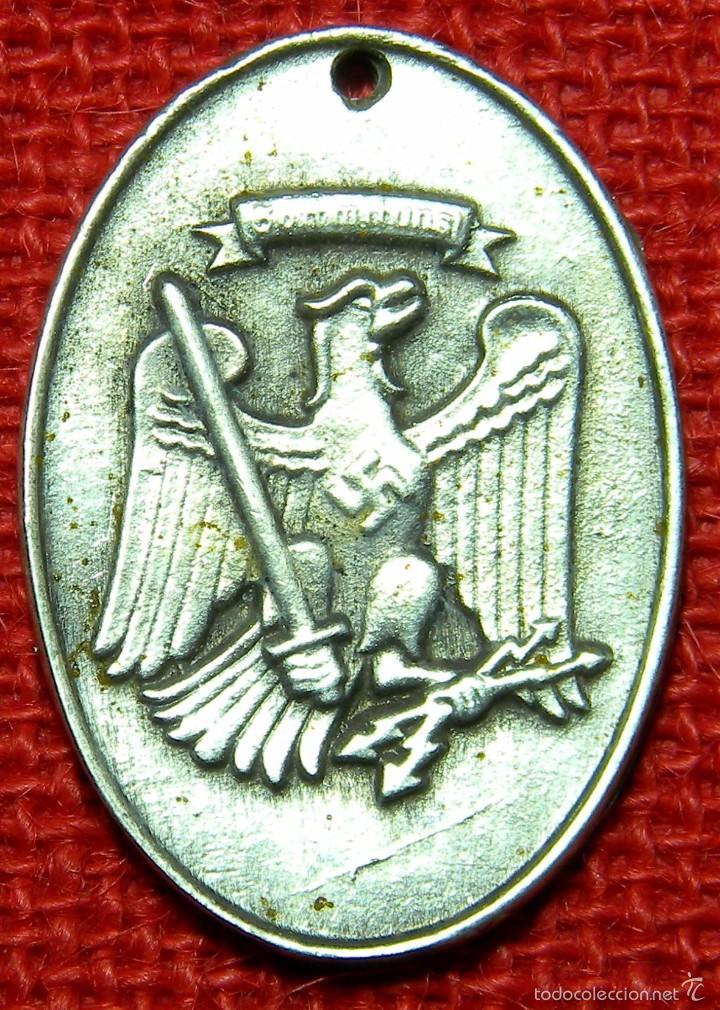 Militaria: Placa de identificación Staatliche Preußische Kriminalpolizei. - Material: German Silver - Plata - Foto 2 - 161140497