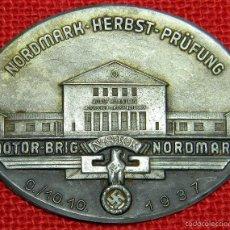 Militaria: NSKK – NORDMARK HERBST PRÜFUNG – 1937 - MATERIAL METALICO: GERMAN SILVER - 85 MM. Lote 111730784