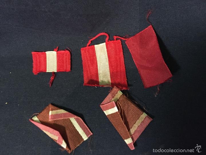 Militaria: retales cinta seda militar español insignia condecoracion medalla s XX ppios - Foto 2 - 59984843
