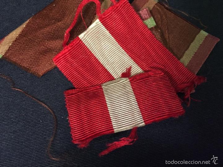 Militaria: retales cinta seda militar español insignia condecoracion medalla s XX ppios - Foto 5 - 59984843