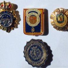 Militaria: 4 INSIGNIAS DE LA POLICIA. Lote 60408483