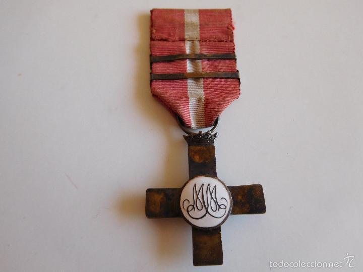 Militaria: Cruz al mérito militar distintivo rojo. Época Franco - Foto 2 - 60440151