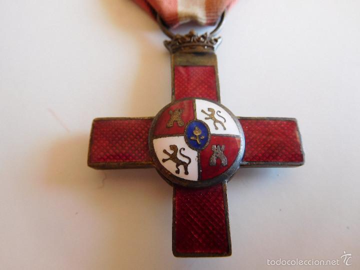 Militaria: Cruz al mérito militar distintivo rojo. Época Franco - Foto 3 - 60440151