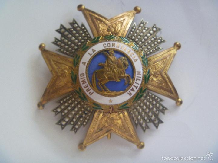 GRAN PLACA DE SAN HERMENEGILDO .( PLATA DORADA ?). EPOCA ALFONSO XIII PARA GENERAL , BRAZOS GRABADOS (Militar - Medallas Españolas Originales )