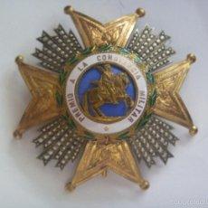 Militaria: GRAN PLACA DE SAN HERMENEGILDO .( PLATA DORADA ?). EPOCA ALFONSO XIII PARA GENERAL , BRAZOS GRABADOS. Lote 61083079