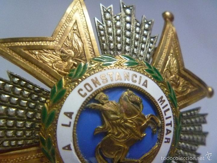 Militaria: GRAN PLACA DE SAN HERMENEGILDO .( PLATA DORADA ?). EPOCA ALFONSO XIII PARA GENERAL , BRAZOS GRABADOS - Foto 2 - 61083079