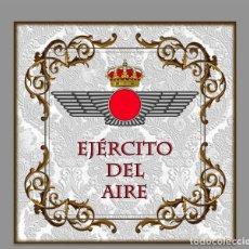 Militaria: AZULEJO 10X10 CON EL EMBLEMA DEL EJÉRCITO DEL AIRE. Lote 61876928