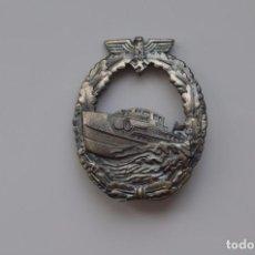Militaria: WWII THE GERMAN BADGE KRIEGSMARINE E-BOAT. Lote 168955808