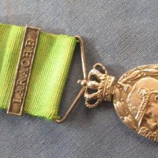 Militaria: MEDALLA FABRICADA EN PLATA MARRUECOS PASADOR LARACHE. Lote 62053144