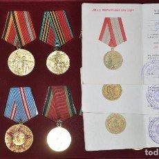 Militaria: LOTE DE 12 MEDALLAS SOVIETICOS PARA UNA PERSONA .SIZOV ./CON PAPELES .URSS. Lote 62255830