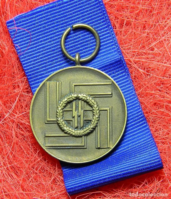 MEDALLA 8 AÑOS AL SERVICIO LEAL DE LAS WAFFEN SS - FÜR TREUE DIENSTE INDER SS. (Militar - Reproducciones y Réplicas de Medallas )
