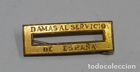 PASADOR DE LA CONDECORACION DAMAS AL SERVICIO DE ESPAÑA, MIDE 3,5 X 1 CMS. (Militar - Cintas de Medallas y Pasadores)