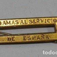 Militaria: PASADOR DE LA CONDECORACION DAMAS AL SERVICIO DE ESPAÑA, MIDE 3,5 X 1 CMS.. Lote 63542516