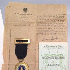 Militaria: ANTIGUA MEDALLA - SUFRIMIENTO POR LA PATRIA - 1936 - CINTA AZUL DE PRISIONERO EN ZONA ROJA POR MAS D. Lote 64767511