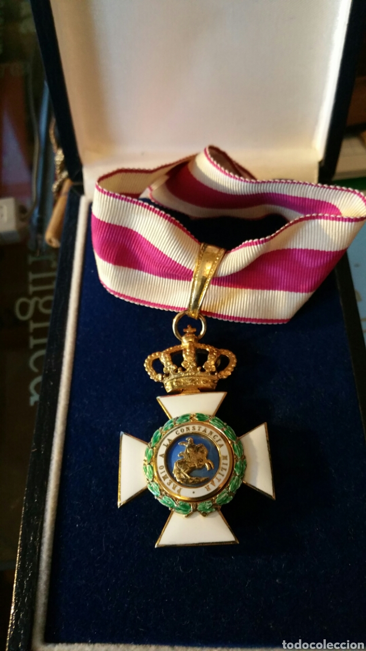 ENCOMIENDA ORDEN DE SAN HERMENEGILDO EPOCA ALFONSO XIII ORO DE LEY MARCAJES PESO SIN CINTA 34 GR (Militar - Medallas Españolas Originales )