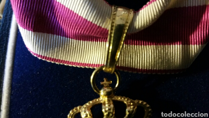 Militaria: Encomienda de la Orden de San Hermenegildo oro de ley con marcajes peso sin cinta 34 gramos - Foto 3 - 65019137