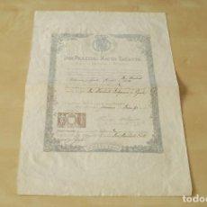 Militaria: CONCESIÓN DE LA MEDALLA DE ORO DE LA JURA DE ALFONSO XIII. 1902. PRÁXEDES MATEO SAGASTA. Lote 65421279