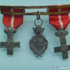 Militaria: PASADOR 3 MEDALLAS VETERANO GUERRA CUBA , EPOCA GOBIERNO PROVISIONAL Y 1ª REPUBLICA , SIGLO XIX. Lote 65765286
